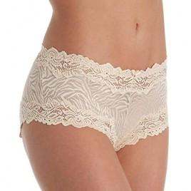 Lunaire Women's Plus Size Whimsy Barbados Mesh Boyshort Panty