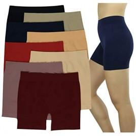 ToBeInStyle Girl's Pack of 6 Layering Modesty Slip Under Skirts Boyshorts