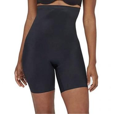 Assets by Spanx Women's Micro High Waist Mid-Thigh Shaper (Black 1X)