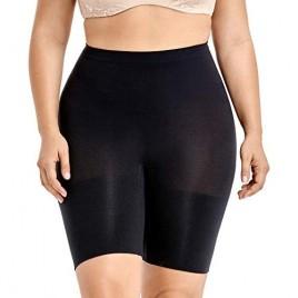 DELIMIRA Women's Tummy Control Shapewear Thigh Slimmer Shorts High Waist
