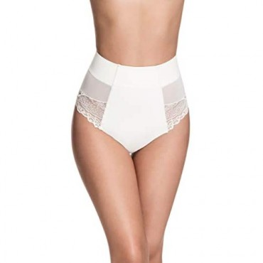 Squeem - Brazilian Flair Women's Slimming Mid Waist Lace Brazilian Panty