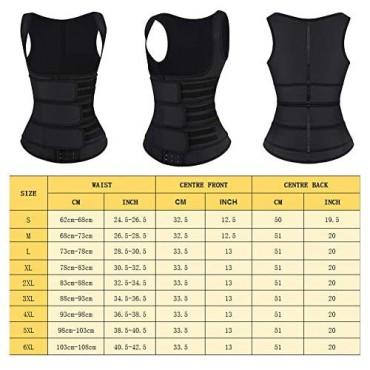 FEDNON Women Waist Trainer Corset Vest Body Shaper Underbust Cincher Tank Top Slimming Sports Girdle