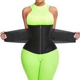 FeelinGirl Women Waist Trainer Belt Tummy Control Waist Cincher Trimmer Sauna Sweat Workout Girdle Slim Belly Band