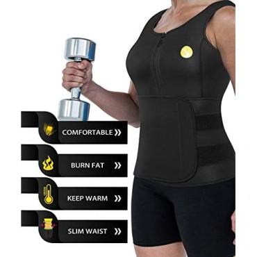 Junlan Women Sauna Waist Trainer Vest Workout Neoprene Tank Top Body Shaper Cincher for Womens