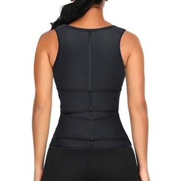 Lover-Beauty Latex Waist Cincher Vest Shapewear Tank Top Workout Corset for Women Weight Loss Doubel Belt Underbust Corset L