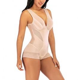 MYSEXY Body Shaper for Women Tummy Control Shapewear Plus Size Seamless Bodysuit