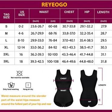REYEOGO Women Waist Trainer Shapewear Bodysuit Tank Tops Sleeveless Tummy Control Body Shaper Jumpsuit