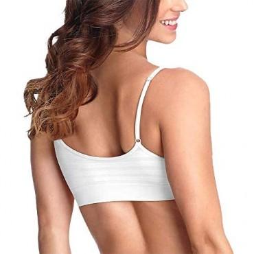 Jockey Women's Bras Modern Micro Seamfree Cami Strap Bralette - 2 Pack
