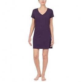 Nautica Women's V-Neck Sleep Shirt 100% Cotton Jersey