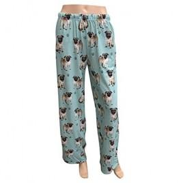 E & S Imports Women's Pug Dog Lounge Pants - Pajama Pants Pajama Bottoms - Large