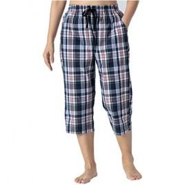 JINSHI Women's Capri Pajama Pant Lounge Pants Pj Bottom Home Sleepwear with Pocket