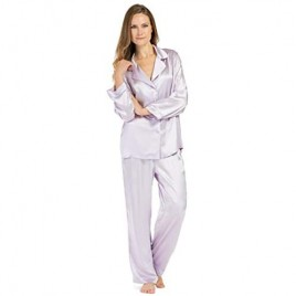 Fishers Finery Women's Classic Pure Mulberry Silk Pajama Set with Gift Box