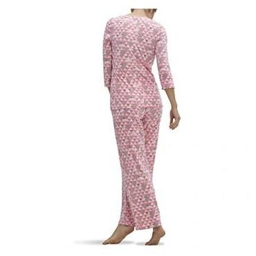 HUE Women's Printed Rayon 2 Piece Pajama Set