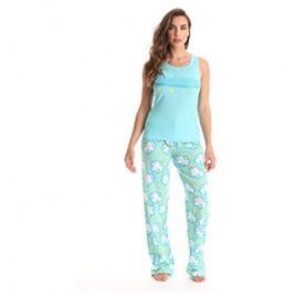 Just Love 100% Cotton Women Pajama Ribbed Tank & Jersey Pant Sets