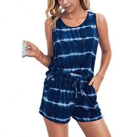 KIRUNDO 2021 Women's Short Sleeves Pajama Sets V Neck Cute Leopard Printed Tee and Shorts 2 Piece Pjs Sleepwear Loungewear