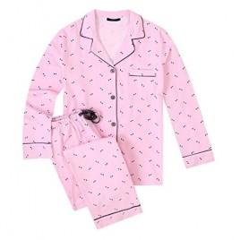 Noble Mount Flannel Pajamas Women 2Pc Pajama Set for Women Winter Pajamas for Women