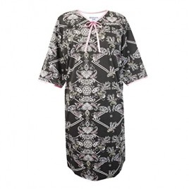 Women's Adaptive Hospital Gown Knit with Bow Open Back