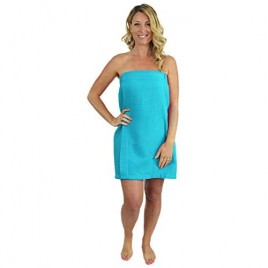 Indulge Linen Spa Waffle Body Wrap for Women with Adjustable Closure