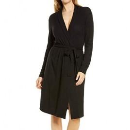 Sheshow Women Kimono Robes Lightweight Cotton Long Robe Soft Kimono Spa Knit Bathrobe Sleepwear V-Neck Loungewear