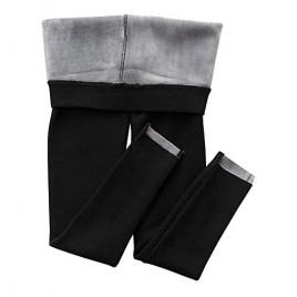 Hixiaohe Women's Ultra Soft Sherpa Fleece Lined Leggings Medium Weight Thermal Pants