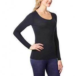 32 Degrees. Heat Womens Scoop Neck Warm T-Shirt Large Black