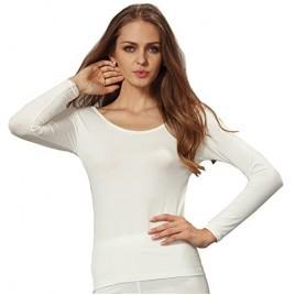 Liang Rou Women's Crew Neck Long Sleeve Ultrathin Modal Thermal Underwear Shirt/Top