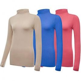 Women's Ultra Warm Soft Underwear Plus Size Long Sleeve Baselayer Fleece Compression Crew Neck Top