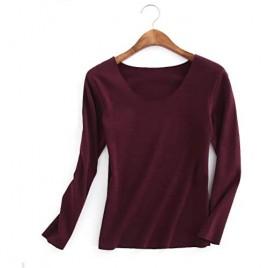 Boniyami Women's Thermal Underwear Shirts Fleece Lined Baselayers Long Johns Top