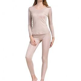 Fashion Silk Women's Silk Long Underwear | Silk Thermal Underwear Sets for Women Mulberry Silk Long Johns