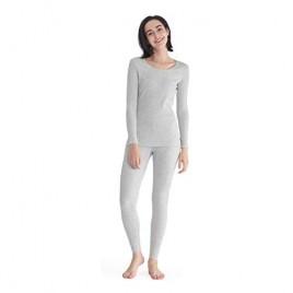 Femofit Women's Thermal Underwear Long Johns Set Ultra Soft Fleece Lined Top & Bottom Winter Warm Base Layer Set S~XL