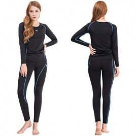 FITEXTREME MAXHEAT Womens Thermal Underwear Long Johns Set with Fleece Lined
