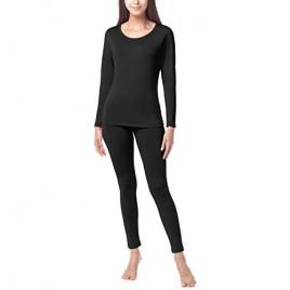 LAPASA Women's Thermal Underwear Long John Set Fleece Lined Base Layer Top and Bottom L17L41