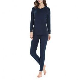 Thermal Underwear for Women Fleece Lined Long Underwear Winter Base Layer Set Midweight Long John