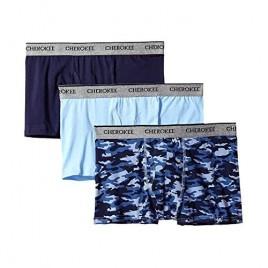 CHEROKEE Men's 3-Pack Cotton Stretch Active Trunks Underwear