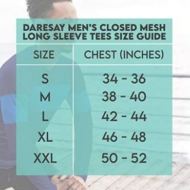 DARESAY Men's Thermal Crew Long Sleeve Henley Tops Base Layer Shirt [4-Pack]