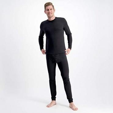 Mens 100% Pure Soft Merino Thermal Base Layer Wool Set Top Pants Black Charcoal