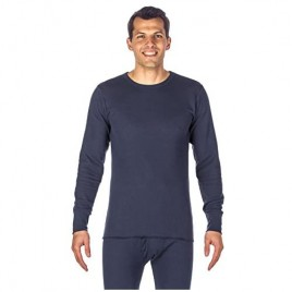 Noble Mount Men's Waffle Knit Long Sleeve Waffle Thermal Top