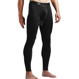 Ouruikia Men's Thermal Underwear Pants Modal Thermal Bottoms Long Johns Pants Underwear with Separate Pouch