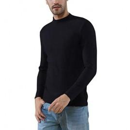 Soojun Men's Slim Fit Super Soft Mock Turtleneck T-Shirt