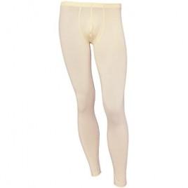 vastwit Men's Ice Silky Bulge Pouch Transparent Themal Underwear Low Rise Long Legging Pants