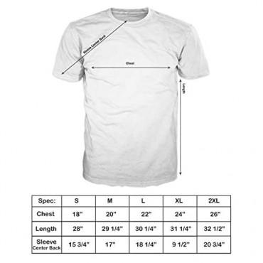 FSD Basic Plain Crew Neck Short Sleeve T-Shirts for Men (Pack of 4 Regular -5XL Big and Tall)