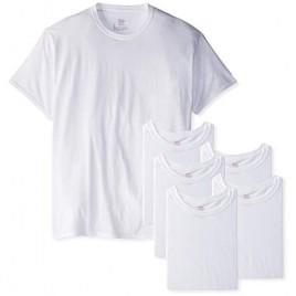 Hanes Men's 6-Pack FreshIQ Crew T-Shirt (Large (42-44)  White)