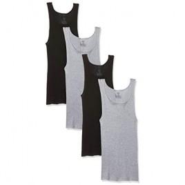 Hanes Men's Ultimate Comfortsoft Dyed Tank Undershirt (4-Pack)