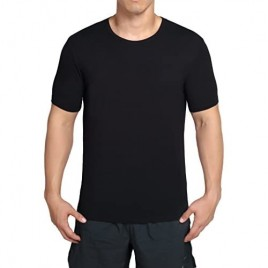 worboo Bamboo T-Shirt for Men  Breathable Soft Plain Men's Undershirts - Crew Neck