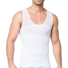 JIAO MIAO Men's Compression Shirt to Hide Gynecomastia Moobs Chest Slimming Body Shaper Undershirt