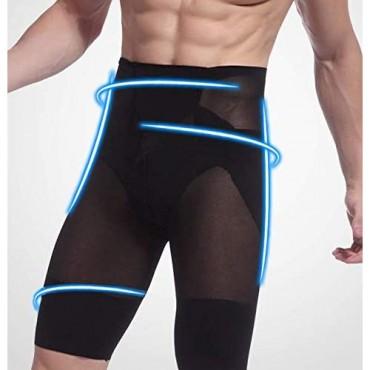 Optlove Men's High Waist Shaper Shorts Slimming Underwear Pants Leg Control Shapewear Briefs