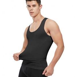 SLIMBELLE Men Compression Seamless Slimming Vest Waist Trainer Tank Top Control Tummy Hide Gynecomastia Man Chest Fat Shirt