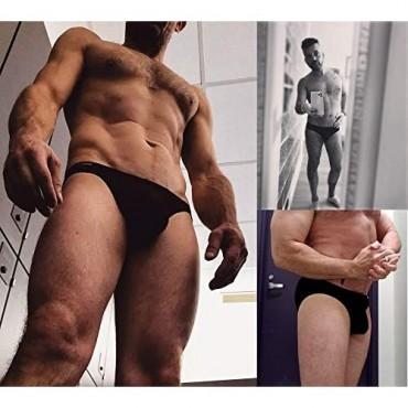 Avidlove Men's Underwear Bikini Briefs Low Rise Thong Underwear Pack of 4