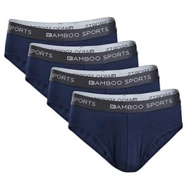 Bamboo Sports Mens No Fly Bamboo Underwear Briefs- Super Soft & Comfortable Fit
