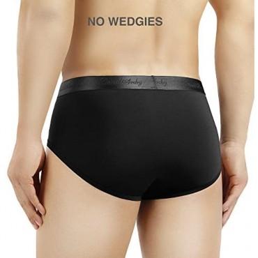 DAVID ARCHY 4 Pack Men's Micro Modal Underwear Soft Comfy Briefs